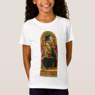 Madonna e t-shirt Enthroned criança da boneca das