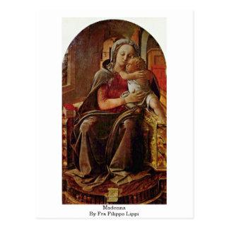 Madonna por Fra Filippo Lippi Cartão Postal