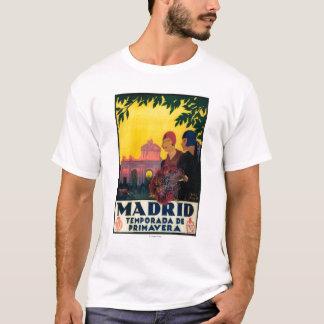 Madrid no poster do promocional do viagem da tshirts