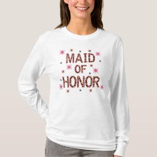 Madrinha de casamento do leopardo t-shirts