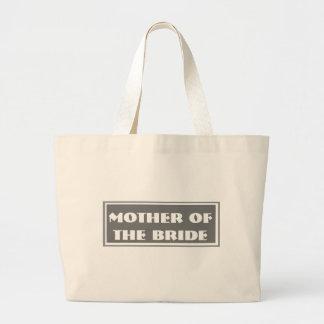 Mãe cinzenta da noiva que Wedding a sacola enorme Bolsa Para Compras