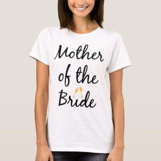 Mãe da camiseta de Champagne Bling da noiva