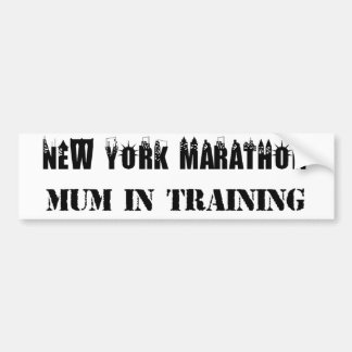 Mãe da maratona de New York no autocolante no Adesivo Para Carro