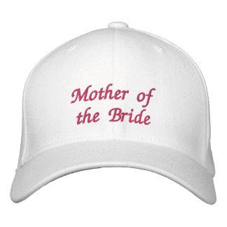 Mãe do chapéu da noiva boné bordado