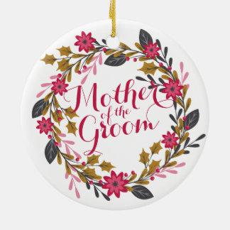 Mãe do ornamento do casamento do Natal do noivo