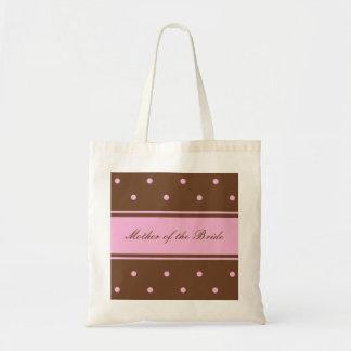 Mãe do saco da noiva -- Pontos cor-de-rosa no saco Sacola Tote Budget