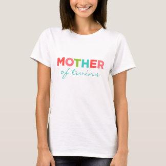 Mãe dos gêmeos camisetas