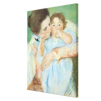 Mãe e criança por Mary Cassatt, belas artes do