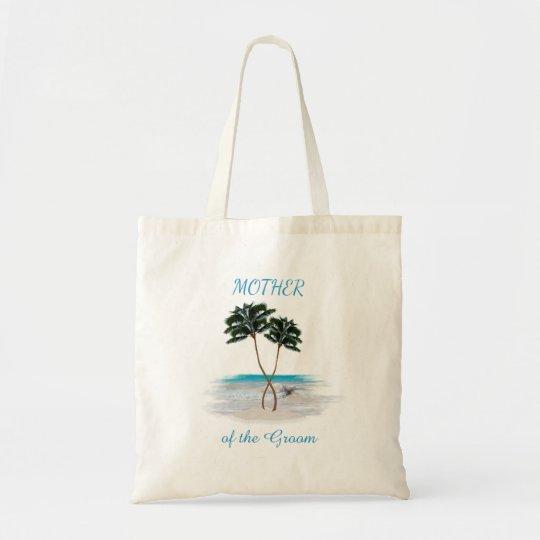 Mãe entrelaçada da praia das palmas da sacola do bolsa tote