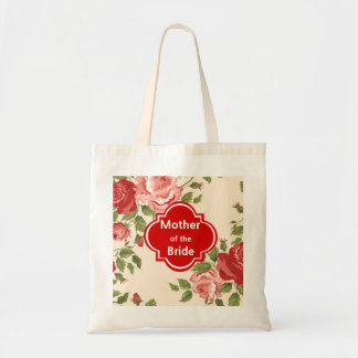 Mãe floral da sacola do casamento da noiva bolsas para compras