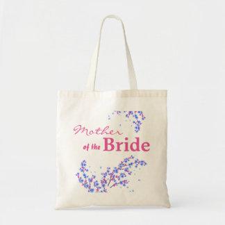 Mãe floral da sacola do casamento da noiva sacola tote budget