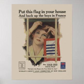 Mãe militar WW2 da ligação da liberdade do vintage Poster