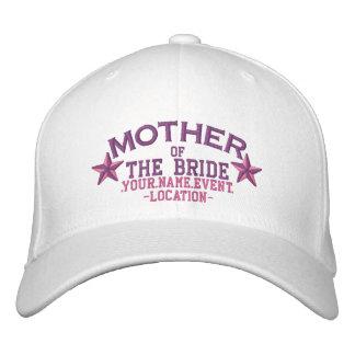Mãe personalizada das estrelas da noiva no rosa boné bordado