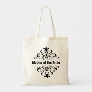 Mãe preta da sacola do casamento da noiva sacola tote budget