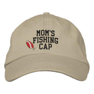 Mães que pescam o chapéu bordado boné