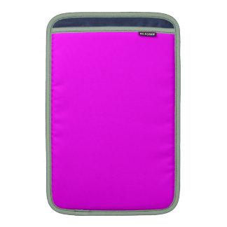 Magenta customizável do canto do corte do quadrado bolsa para MacBook air