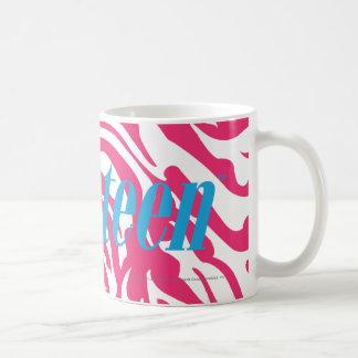 Magenta da zebra caneca de café