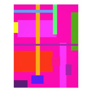 Magenta linear da beleza panfletos coloridos