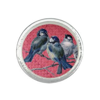 """""""Magenta tecida de Harakeke"""" - com pássaros do Anéis Com Foto"""