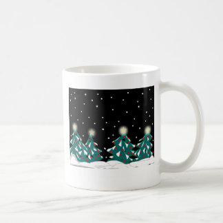 Mágica do inverno caneca de café