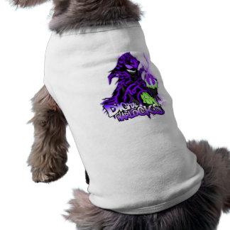 Mágico roxo dos mágicos de Digitas - roupa do anim Camisa Sem Mangas Para Cachorro