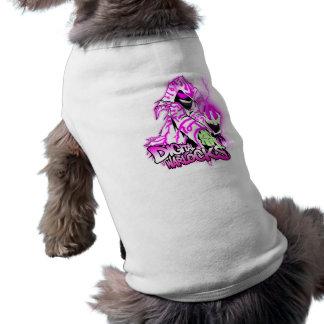 Mágicos de Digitas cor-de-rosa e mágico branco - c Camisa Sem Mangas Para Cachorro