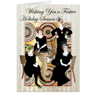 Mah Jongg festivo Cartão Comemorativo