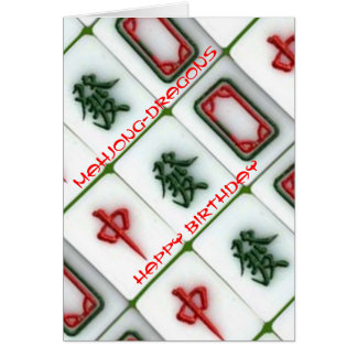 Mahjong-dragões Cartão De Nota