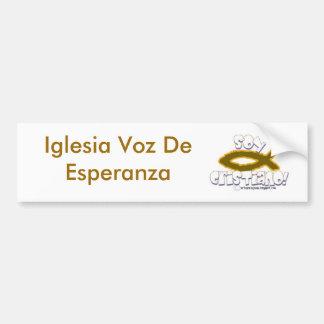 maHOu-arteparaJesus135, Iglesia Voz De Esperanza Adesivo Para Carro