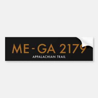 Maine a Geórgia 2179 milhas - fuga apalaches Adesivo Para Carro