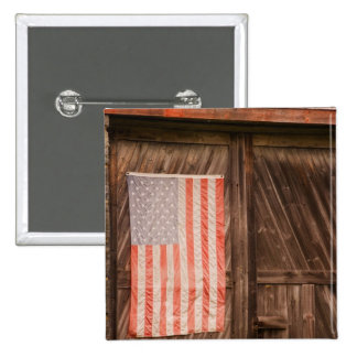Maine, bandeira americana desvanecida na porta do  bóton quadrado 5.08cm