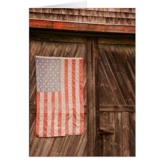 Maine, bandeira americana desvanecida na porta do  cartões