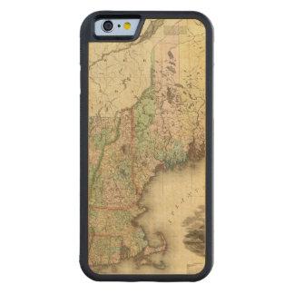Maine, New Hampshire, Vermont, Massachusetts Capa De Madeira De Bordo Bumper Para iPhone 6