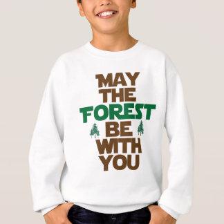 Maio a floresta seja com você t-shirt
