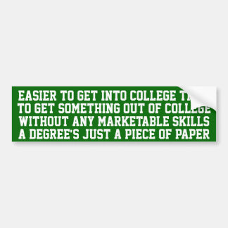 Mais fácil obter na faculdade… adesivo para carro