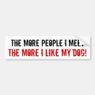 Mais pessoas que eu encontro, mais eu gosto de meu adesivo