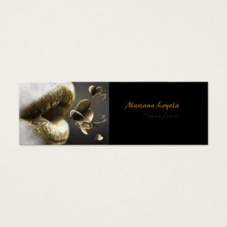 Makup Artist Cartão De Visitas Mini