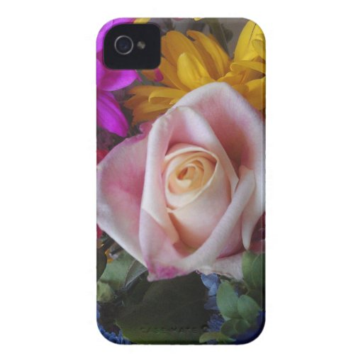 Mal lá argumento floral para BlackberryBold iPhone 4 Capa