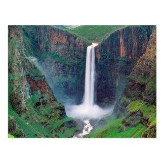 Maletsunyane cai Lesotho Cartão Postal
