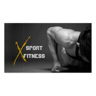 Cartão de visita personal trainer. Cartões de visita fitness