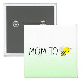 Mamã a ser, verde bonito do zangão/amarelo bóton quadrado 5.08cm