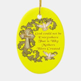 Mamã cristã divino ornamento de cerâmica