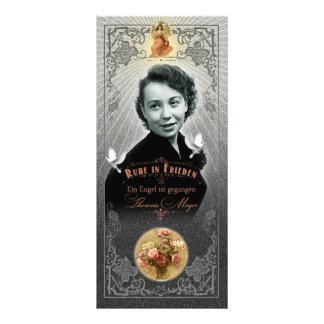 Mama de Trauerkarte - Rackcard 10.16 X 22.86cm Panfleto