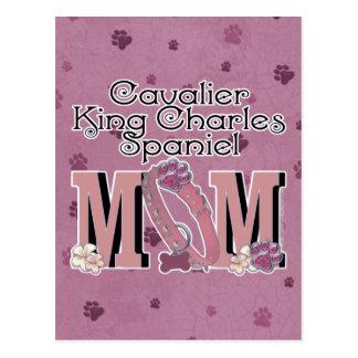 MAMÃ descuidado do Spaniel de rei Charles Cartão Postal