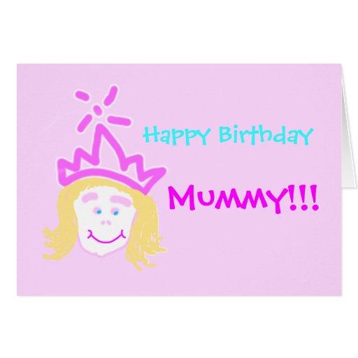 Mamã do cartão & do verso de aniversário da prince