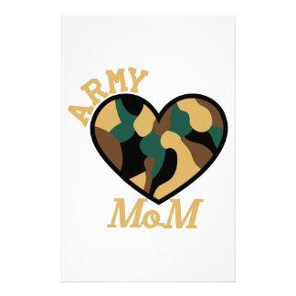 Mamã do exército papelaria