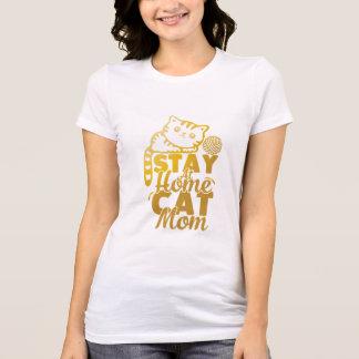mamã do gato da estada em casa camisetas