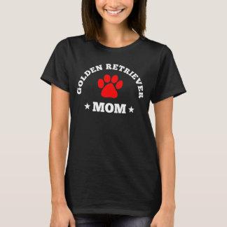 Mamã do golden retriever camisetas