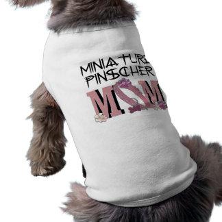 MAMÃ do Pinscher diminuto Camisetas Para Caes