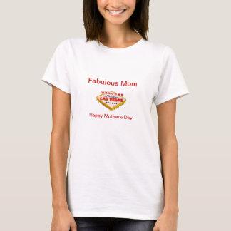 Mamã fabulosa, bolo feliz de Las Vegas do dia das T-shirt